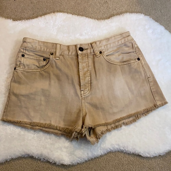 Free People Shorts, Beige color